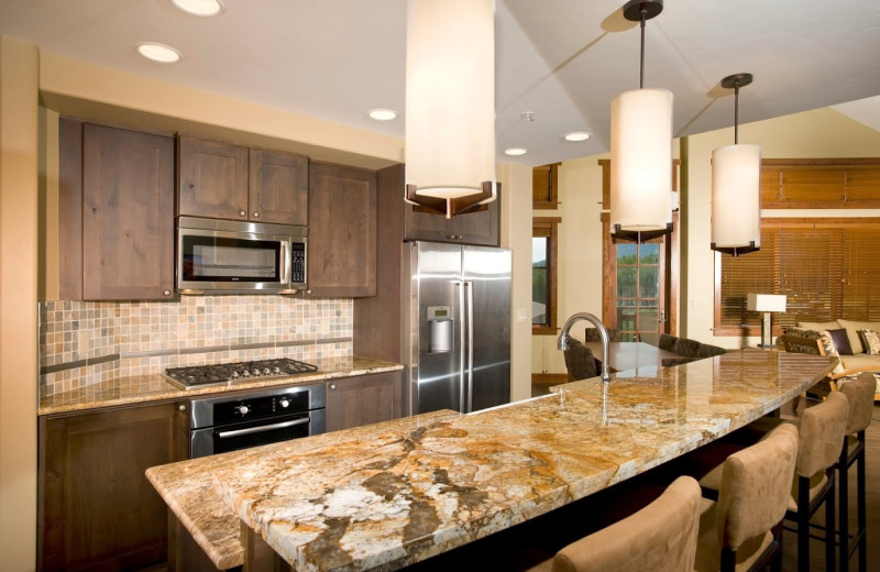 Guest kitchen at One Ski Hill Place.