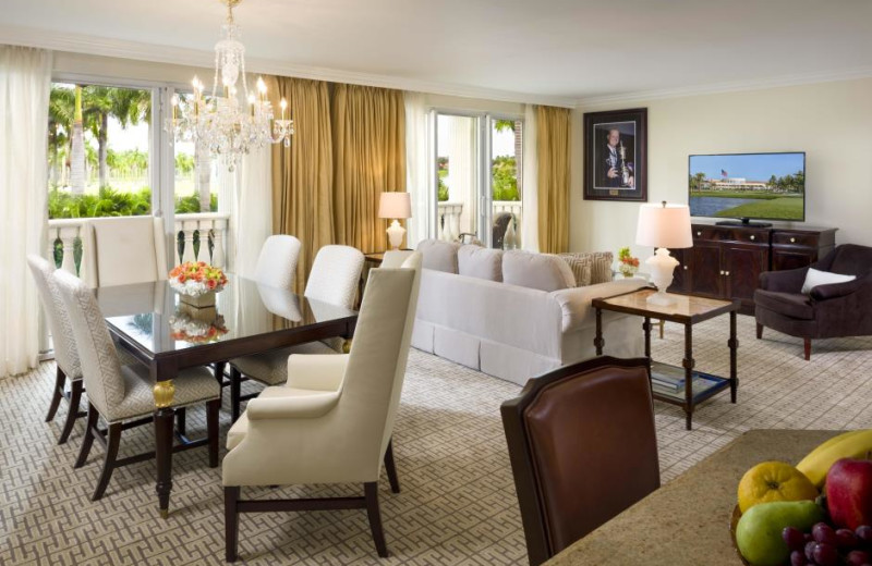 Guest suite at Trump National Doral Miami.