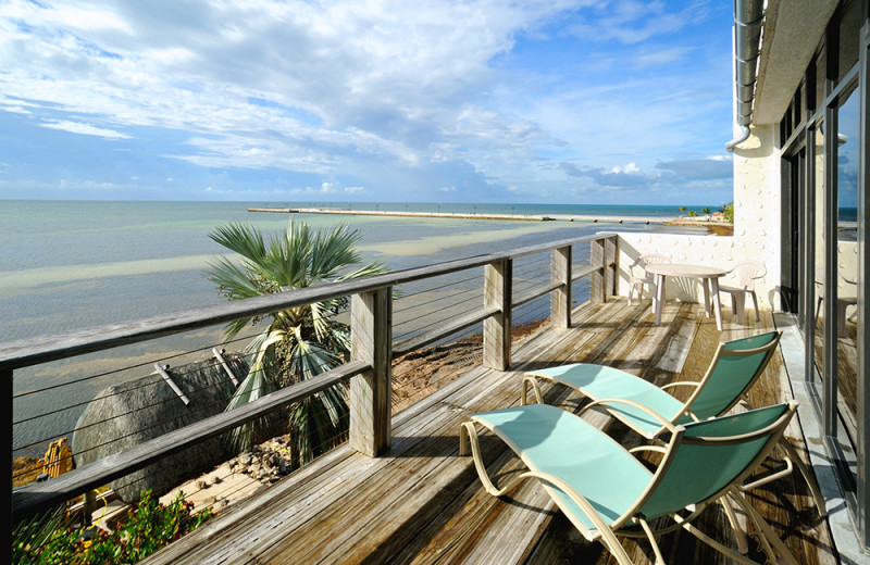 Rental balcony at Rent Key West Vacations.