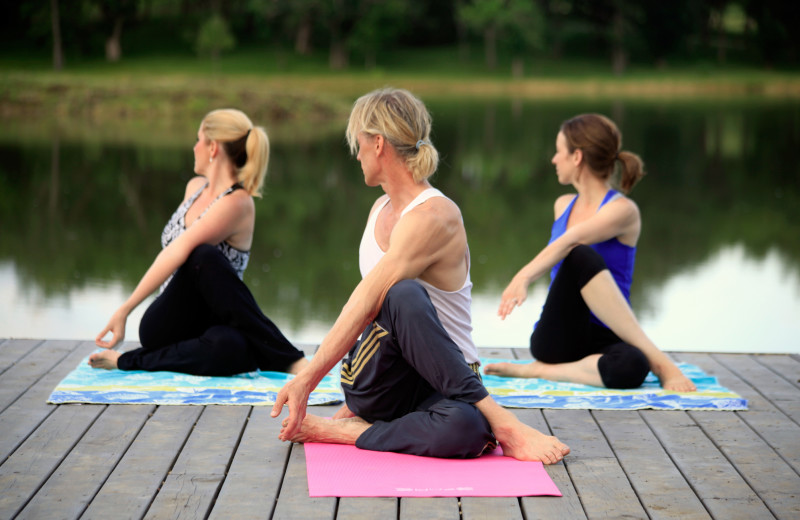 Yoga class at Morrell Ranch.