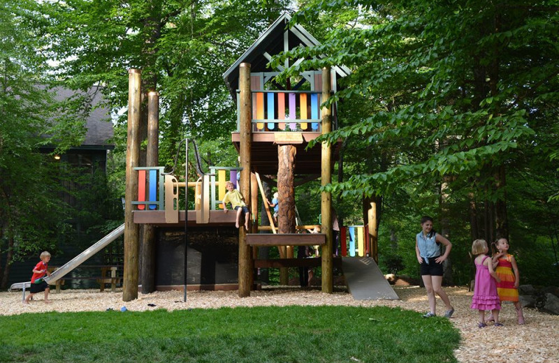 Kids playground at Migis Lodge.