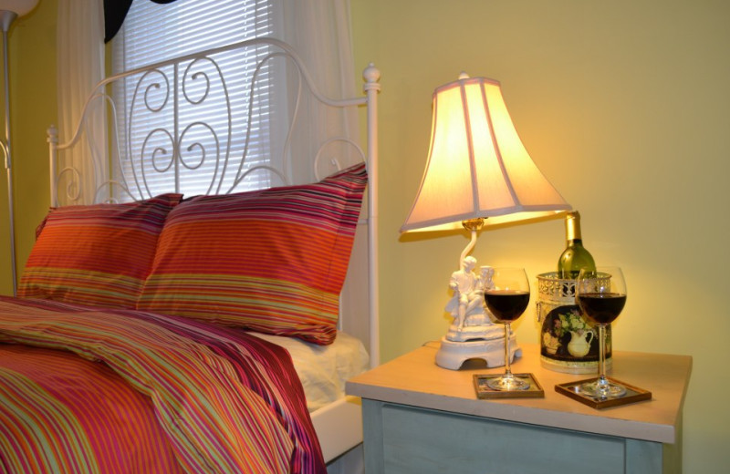 Guest room at Mountain Treasure Bed and Breakfast.