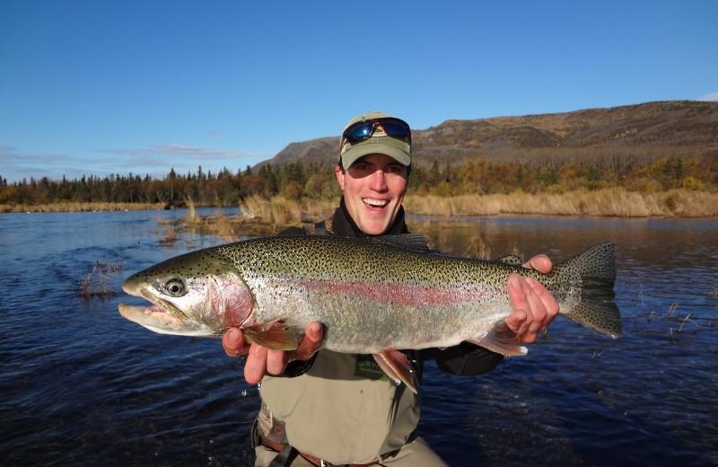 Fishing at Crystal Creek Lodge.