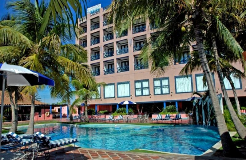 Outdoor pool at Hotel La Samanna.
