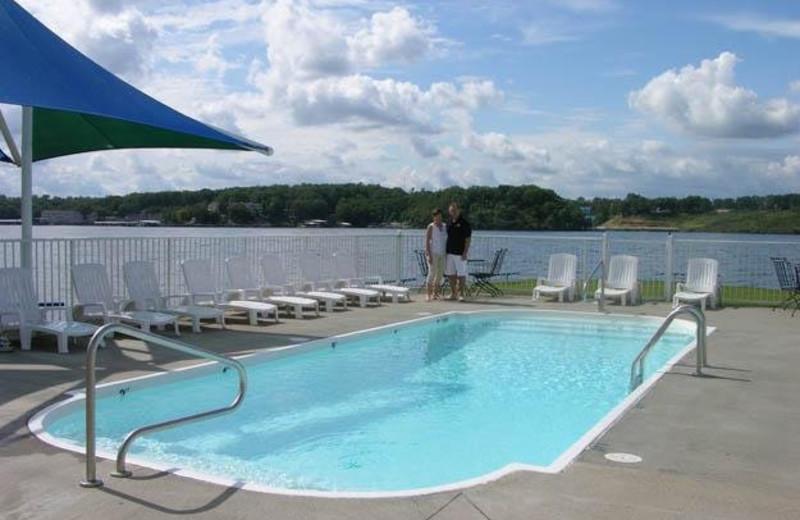 Pool view at Robin's Resort.