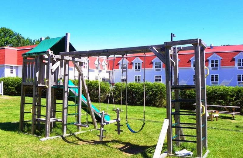 Kid's playground at Acadia Inn.