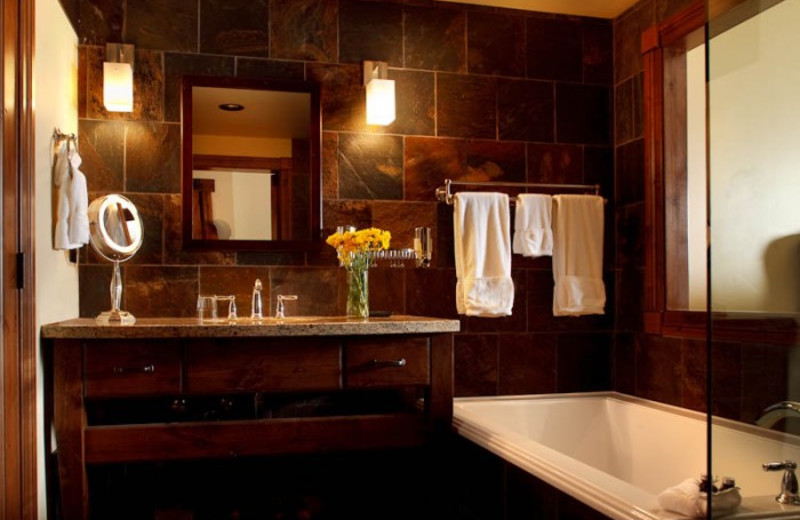Guest bathroom at White Buffalo Club.