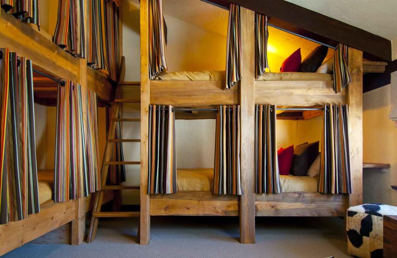 Bunk beds at C Lazy U Ranch.