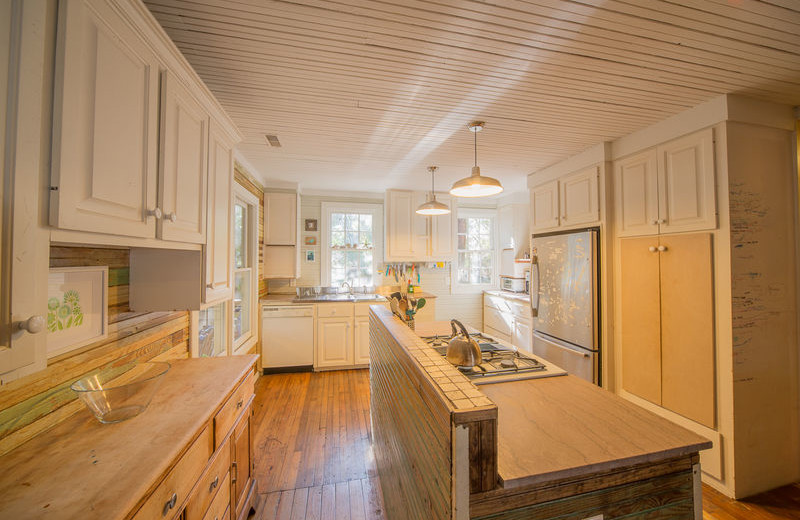 Rental kitchen at Vacation Rentals Folly Beach.