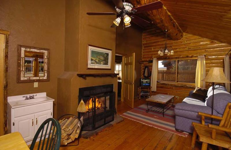 Crooked Creek cabin interior at Bar N Ranch.