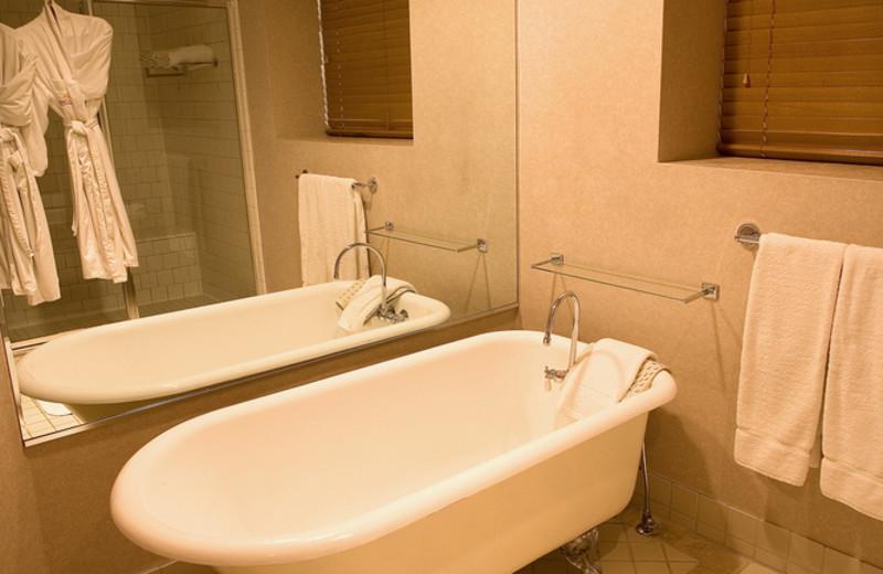 Guest bathroom at The Lodge at Ventana Canyon.