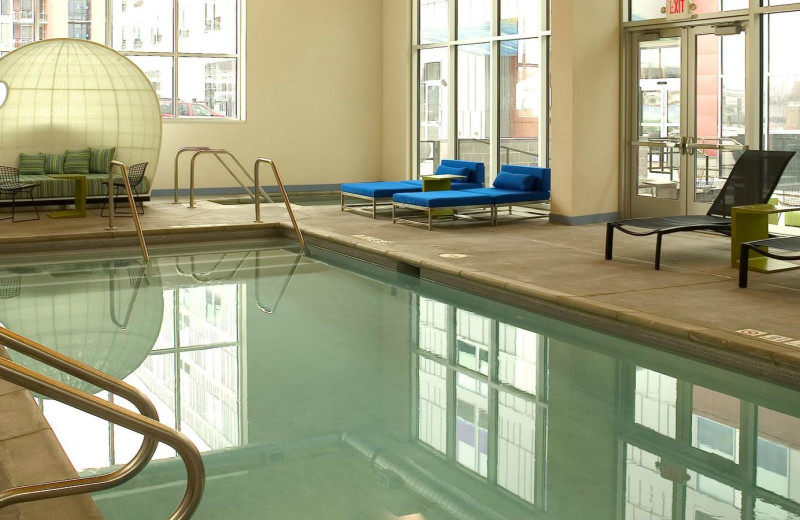 Indoor pool at Aloft Minneapolis.
