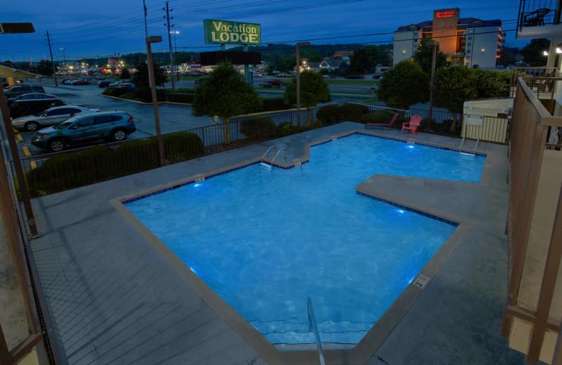 Outdoor pool at Vacation Lodge.