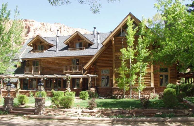 Exterior view of The Lodge at Red River Ranch.