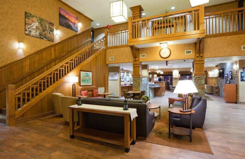 Lobby at Hampton Inn Duluth.
