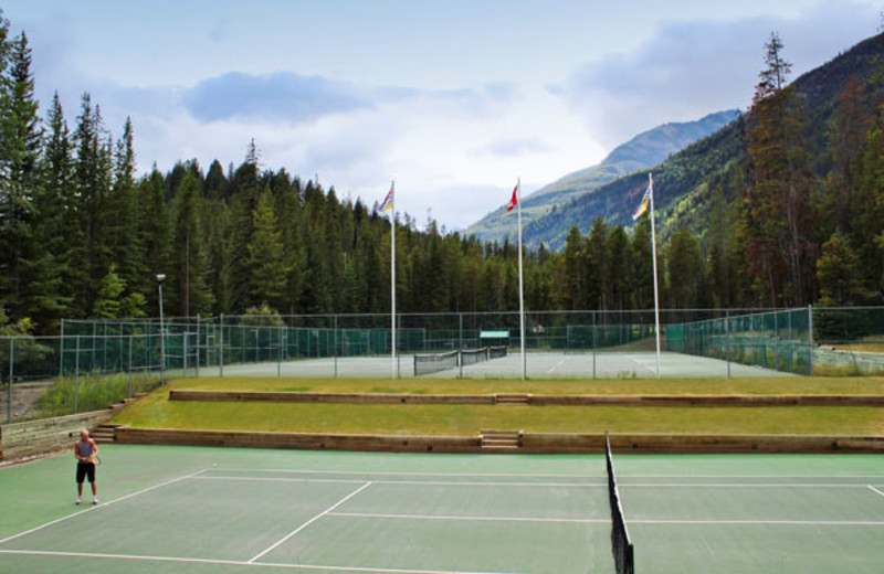 Tennis Courts at the Panorama Vacation Retreat at Horsethief Lodge