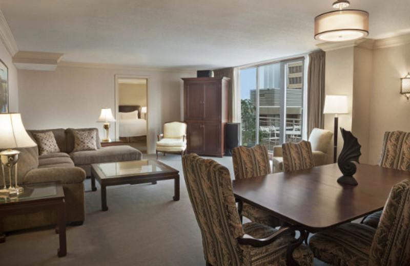 Guest suite at Delta Halifax.