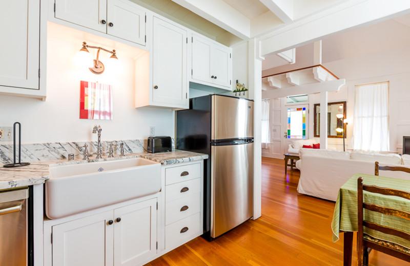 Cottage kitchen at Seabreeze Vacation Rentals, LLC.