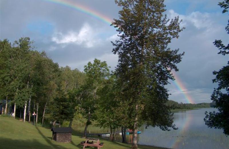 Rainbow at Elk Lake Wilderness Resort.