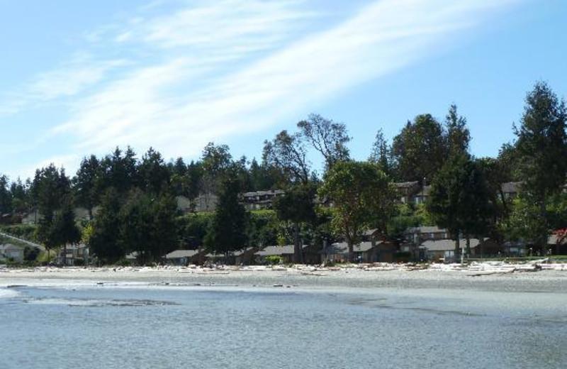 Lake view at Beach Acres Resort.
