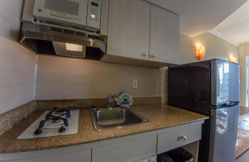 Guest kitchenette at Fleur De Lis Beach Resort.