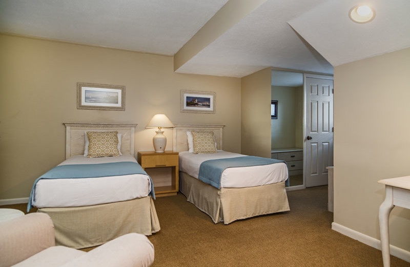 Guest bedroom at Waters Edge Resort and Spa.