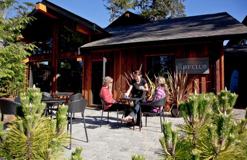Patio at Long Beach Lodge Resort.