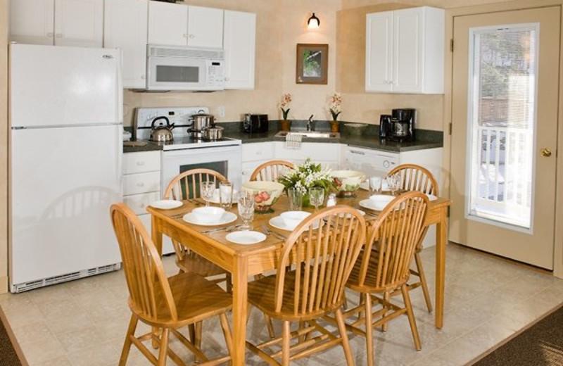 Attitash Mountain Village guest kitchen at North Conway Lodging.