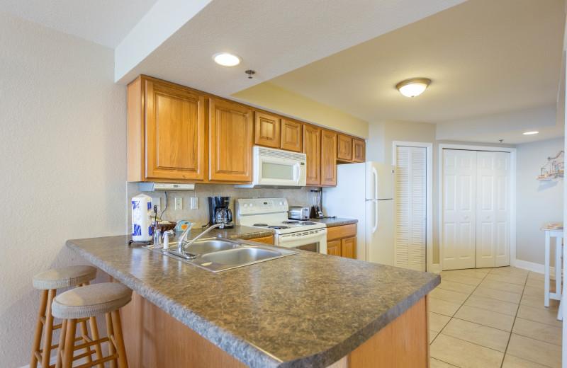 Rental kitchen at Perdido Sun Condos.