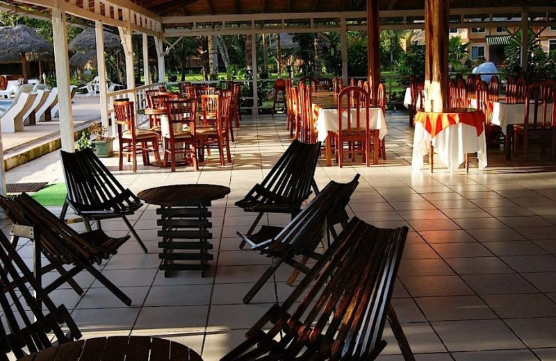 Patio at Misahualli Jungle Hotel.