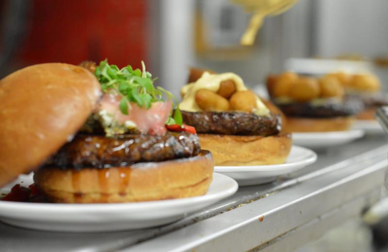 Burgers at Sawmill Creek Resort.