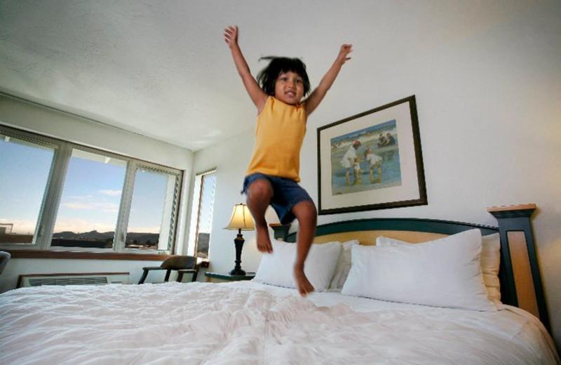 Bed Jumping at Inn at Seaside