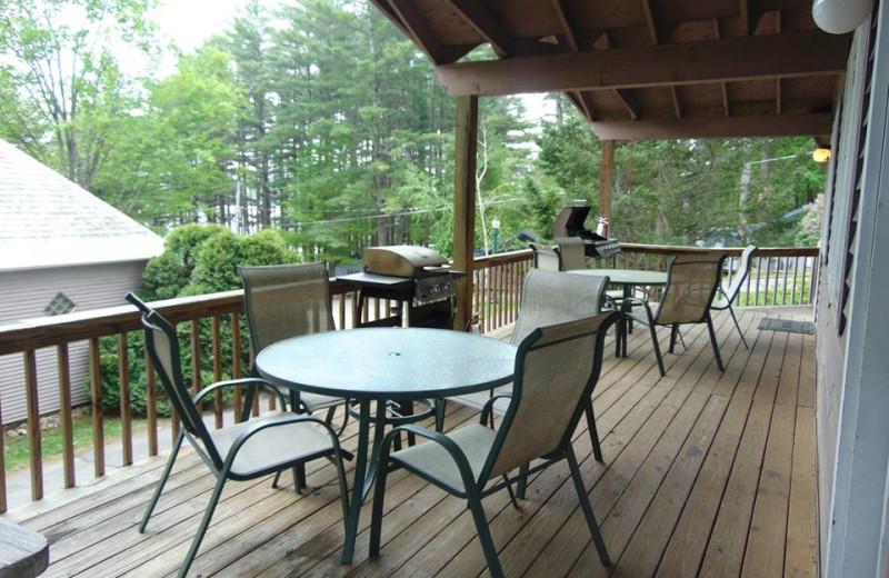 Cabin deck at The Depe Dene Resort.