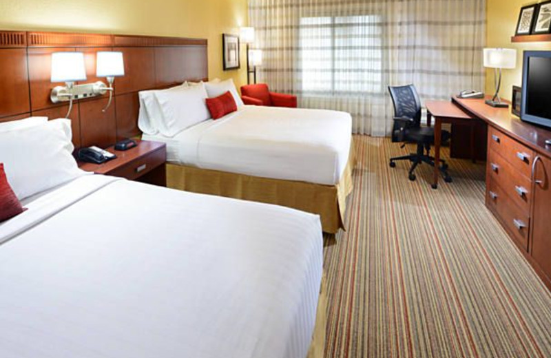 Guest room at Courtyard by Marriott Fort Worth University Drive.