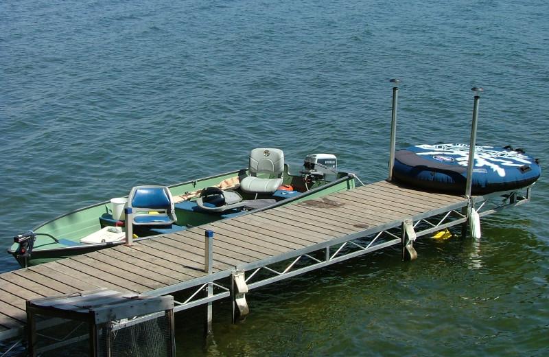 Dock at Long Lake Resort.