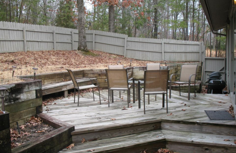 Private outdoor patio at Red Apple Inn and Country Club.