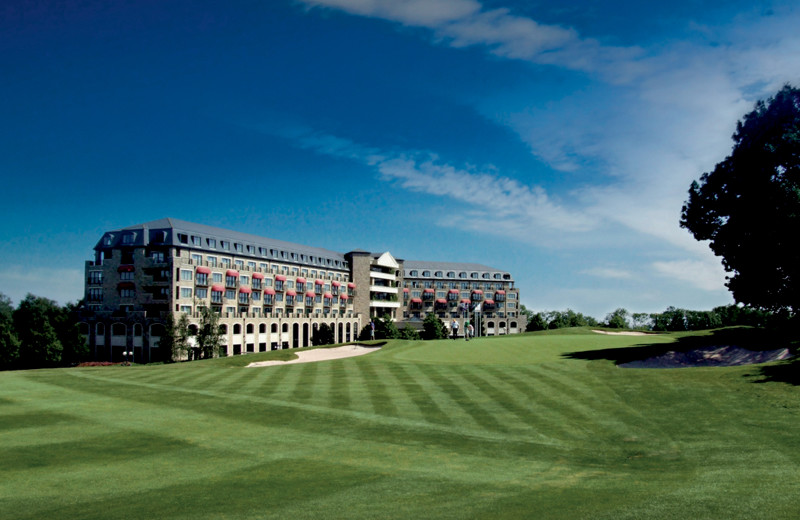 Exterior view of The Celtic Manor Resort.
