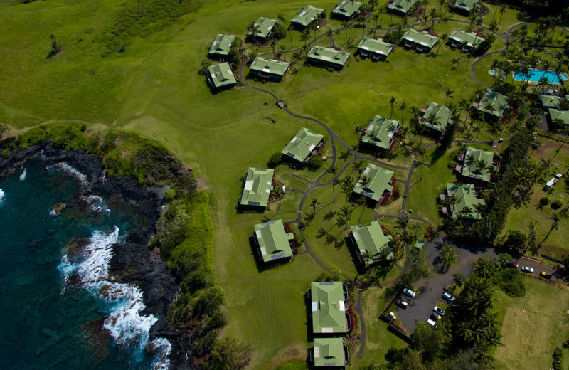 Aerial view of Travaasa Hana, Maui.