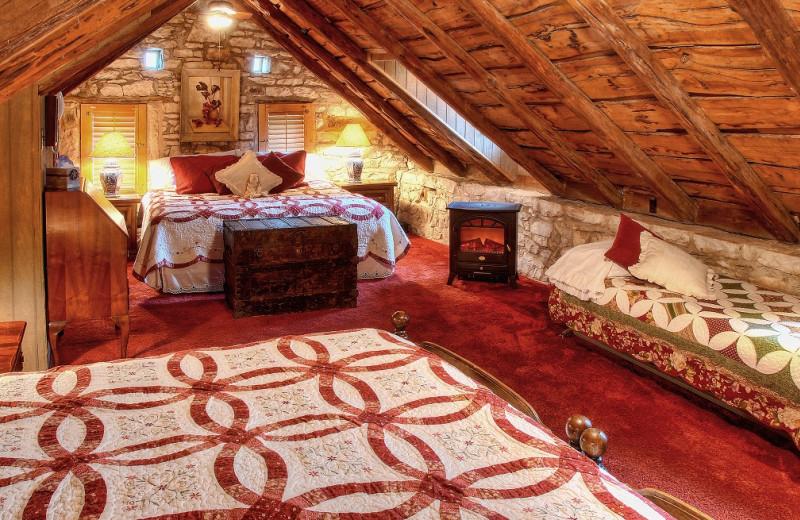 Guest room at Kuebler-Waldrip Haus B & B.