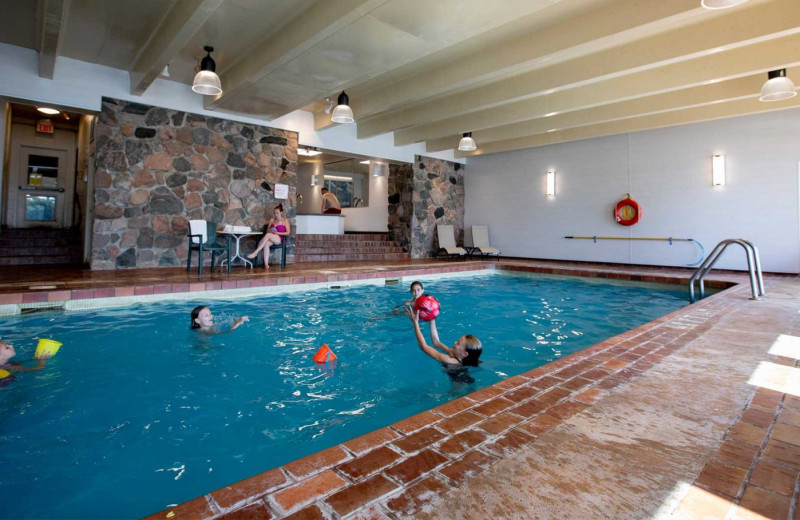 Indoor pool at Elmhirst's Resort.
