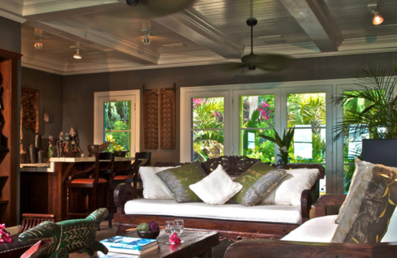 Guest room at Musha Cay Resort.