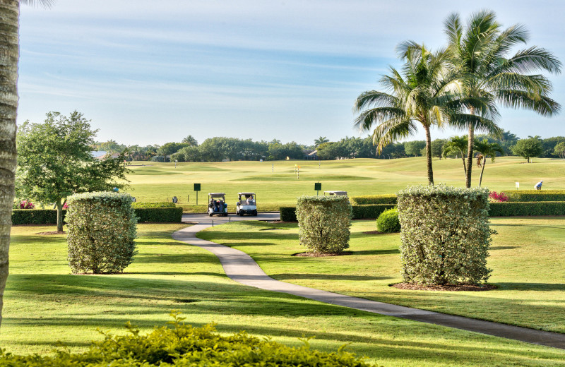 Golf course at Naples Florida Vacation Homes.