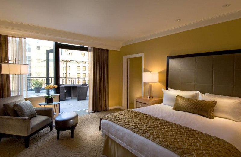 Guest room at Conrad Chicago Hotel.