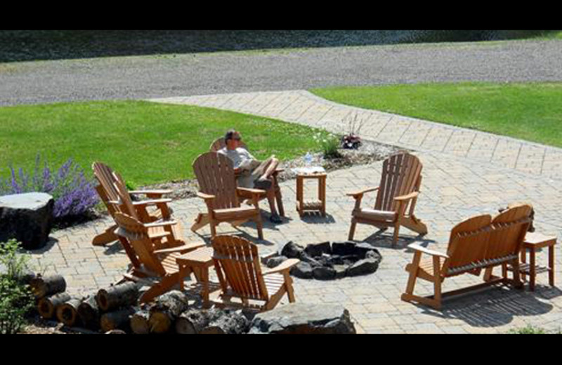 Outdoor fire pit at Northernaire Resort.