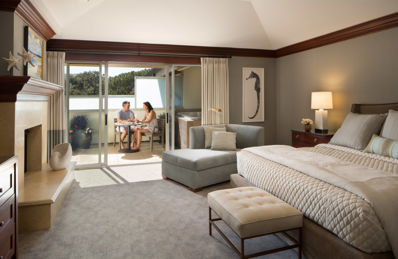 The Spa Terrace suite, perfect for honeymooners, complete with a private hot tub.