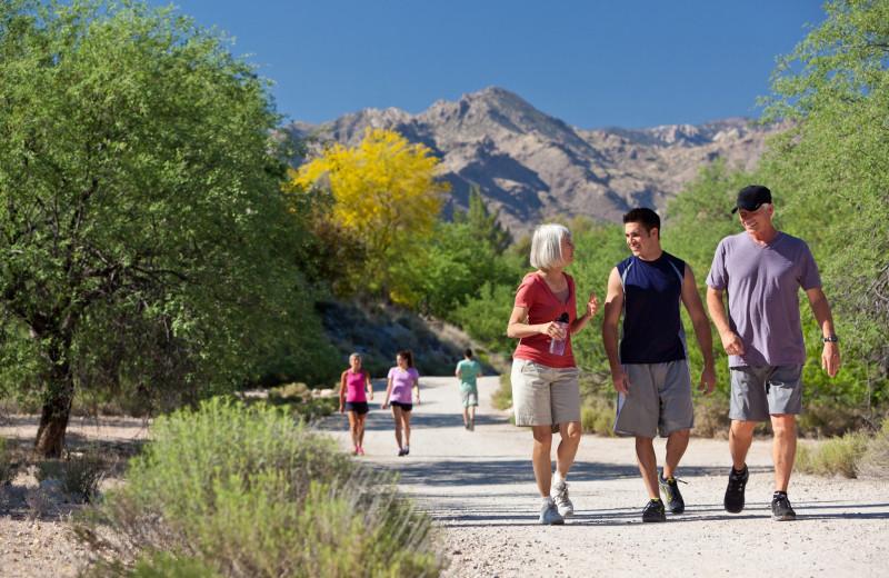 Hiking at Canyon Ranch Tucson.