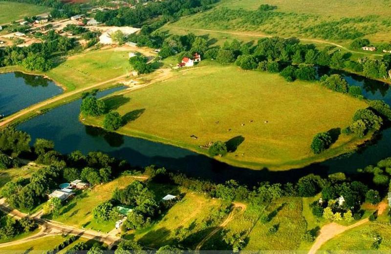 Aerial view of Fredericksburg Ranch.