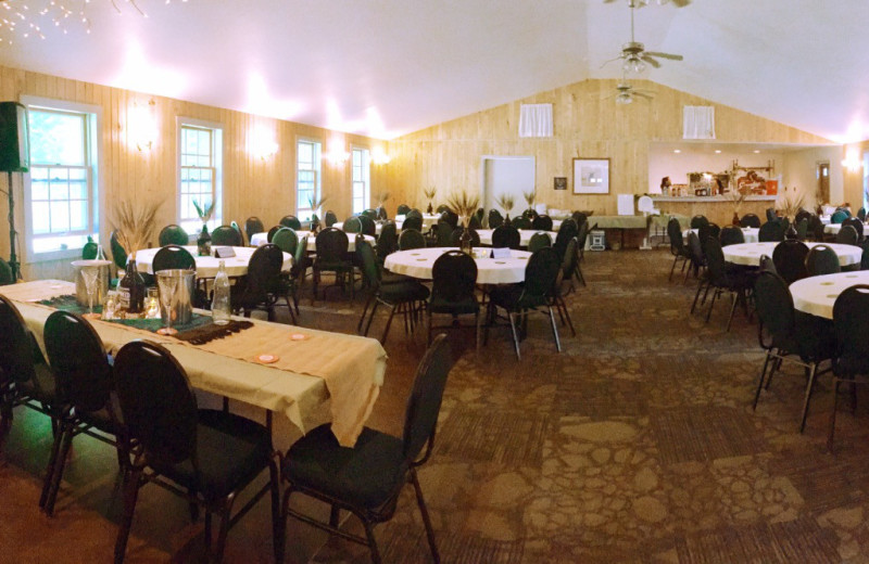 Wedding reception at Hanging Horn Lakeside Resort.