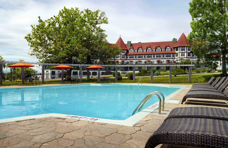Outdoor pool at The Algonquin Resort St. Andrews by-the-Sea, Autograph Collection.