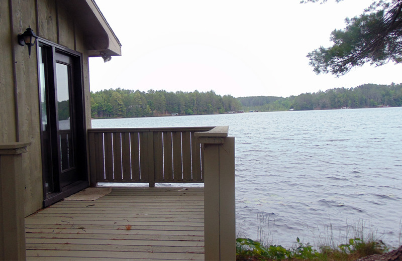 Cabin view at Northernaire Resort.